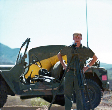 United States army field artillery land surveyor sergeant Randy Donckers
